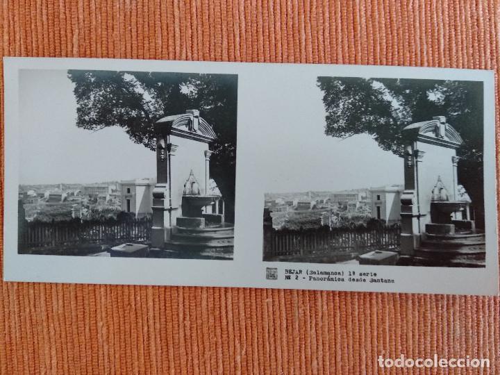 Fotografía antigua: 15 VISTAS ESTEREOSCÓPICAS BÉJAR SALAMANCA, 1ª SERIE. Colección nº151 - Foto 3 - 210594221