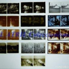 Fotografía antigua: BARCELONA - 13 PLACAS POSITIVOS EN CRISTAL ESTEREOSCOPICOS - AÑOS 1921-1922. Lote 210738092