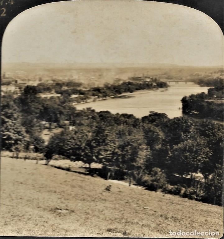12859 THE CONNECTICUT RIVER AND HOLYOKE, MASS 1909 - H. C. WHITE CO. (Fotografía Antigua - Estereoscópicas)