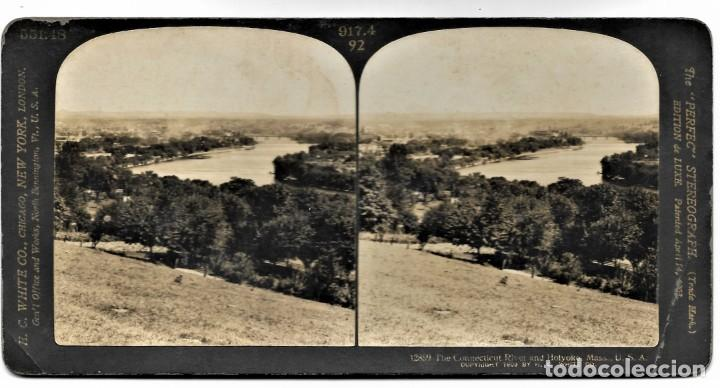 Fotografía antigua: 12859 THE CONNECTICUT RIVER AND HOLYOKE, MASS 1909 - H. C. WHITE CO. - Foto 2 - 211386557