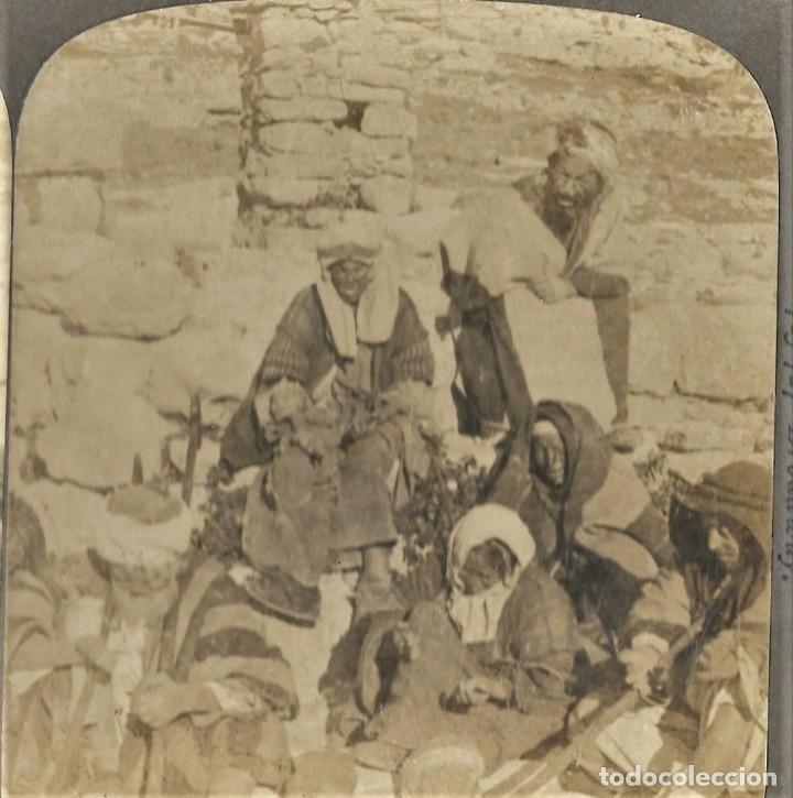 (14) LOS LÁZAROS DEL VALLE DE KEDRON, PALESTINA AÑO 1900 - AMERICAN STEREOSCOPIC COMPANY. (Fotografía Antigua - Estereoscópicas)