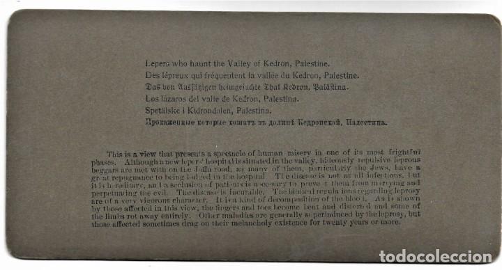 Fotografía antigua: (14) LOS LÁZAROS DEL VALLE DE KEDRON, PALESTINA AÑO 1900 - AMERICAN STEREOSCOPIC COMPANY. - Foto 3 - 211386904