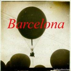 Fotografía antigua: BARCELONA - CONCURSO GLOBOS AEROSTÁTICOS - 1907 - POSITIVO DE VIDRIO. Lote 211489419
