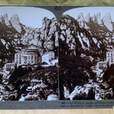 Fotografía antigua: FOTOGRAFÍA ESTEREOSCÓPICA UNDERWOOD & UNDERWOOD. Nº 60-10410. CONVENTO DE MONSERRAT, BARCELONA. 1908. Lote 211730834