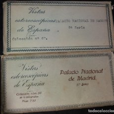 Fotografía antigua: VISTAS ESTEREOSCÓPICAS * PALACIO NACIONAL DE MADRID * (1 ª SERIE - 2 ª SERIE). Lote 82193664