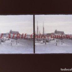 Fotografía antigua: PALMA DE MALLORCA - VISTA ESTEREOSCOPICA CRISTAL NEGATIVO - AÑOS 1930-40. Lote 213610803