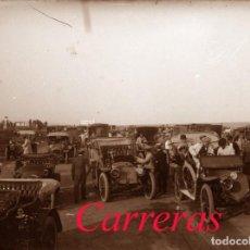 Fotografía antigua: CARRERAS DE COCHES - 1915 - 1920 - SITGES - NEGATIVO DE VIDRIO. Lote 213735020