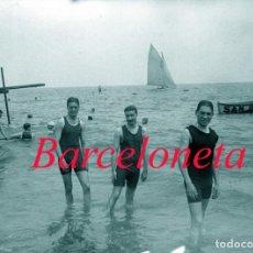 Fotografía antigua: BARCELONETA - SAN SEBASTIAN - 1915 - 1920 - NEGATIVO DE VIDRIO. Lote 213735201
