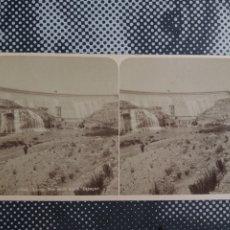 Fotografía antigua: ESTEREOSCÓPICA LORCA MURCIA VISTA DE LA PRESA 2748 LL LEVY S. XIX. Lote 213962161