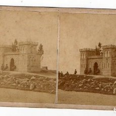 Fotografía antigua: GIJON. INAUGURACIÓN DE BEGOÑA. ARQUITECTURA EN FORMA DE CASTILLO GUARDIA CIVIL. 1875 TRUAN. ASTURIAS. Lote 214624265