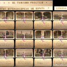 Fotografía antigua: 12 FOTOGRAFIAS ESTEREOSCOPICAS LERIDA LLEIDA SERIE TURISMO PRACTICO. Lote 252187460