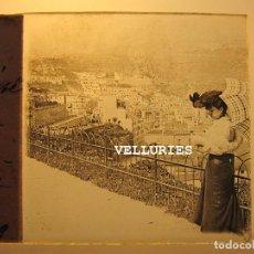 Fotografía antigua: DOS VISTAS DE ORAN. ARGELIA. ESTEREOS VIDRIO POSITIVO. 4,5 X 10,5 CM CADA UNO. Lote 215189922