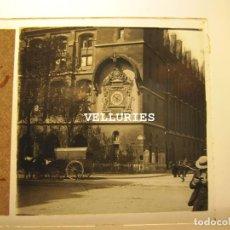 Fotografía antigua: TRES VISTAS DE PARIS. ESTEREOS VIDRIO POSITIVO. 4,5 X 10,5 CM CADA UNO. Lote 215190337