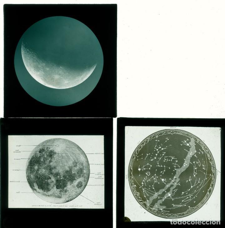 Fotografía antigua: ASTRONOMIA - ASTRONOMY - LINTERNA MAGICA - CAJA CON 50 CRISTALES - SLIDES - 1900 - 1920 - Foto 4 - 218798628