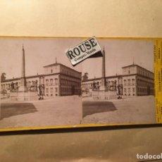 Fotografía antigua: ROMA - ANTIGUA FOTOGRAFIA ESTEREOSCOPICA - FOTOGRAFIE D'ITALIA FRATELLI ALINARI FOTGR,. Lote 219312603