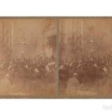 Fotografía antigua: BARCELONA.- PROCESIÓN DE SAN FRANCISCO DE PAUL.. Lote 219499842