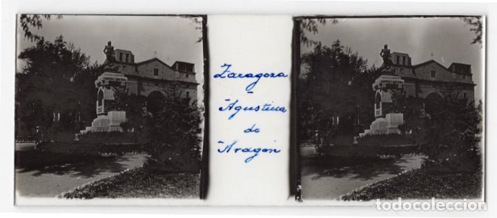 Fotografía antigua: ZARAGOZA.- MONASTERIOR DE PIEDRA. VISTAS. AGUSTINA DE ARAGÓN. EL CANAL IMPERIAL. 14 CRISTALES. - Foto 2 - 219705918