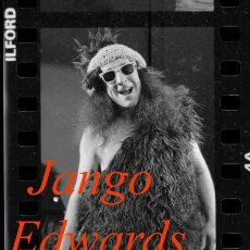 Fotografía antigua: CLOWN - JANGO EDWARDS - 2 NEGATIVOS DE CELULOIDE - 1983. Lote 221708392