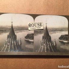 Fotografía antigua: CANADA -OTTAWA - ANTIGUA FOTOGRAFIA ESTEREOSCOPICA - 1901 TOWER OF PARLIAMENT BUIDING. Lote 221877875