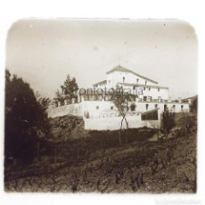 Fotografía antigua: RESTAURANT LES FONTS - CATALUNYA, 1920'S. CRISTAL POSITIVO 4X10 CM.. Lote 223284498