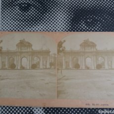 Fotografía antigua: VISTA ESTEREOSCOPICA MADRID PUERTA DE ALCALA KILBURN 5815 S.XIX. Lote 226574890