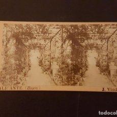 Fotografía antigua: HOYOS ALICANTE J. VIUDES FOTOGRAFO VISTA ESTEREOSCOPICA HACIA 1890. Lote 226648120