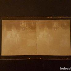 Fotografía antigua: ALICANTE SALA DE LA CASA DEL MARQUES RIOFLORIDO J VIUDES FOTOGRAFO VISTA ESTEREOSCOPICA H. 1890. Lote 226651120