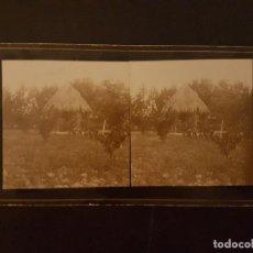 Fotografía antigua: ALMORADI ALICANTE FINCA MARQUES DE RIOFLORIDO J VIUDES FOTOGRAFO VISTA ESTEREOSCOPICA H. 1890. Lote 226651825