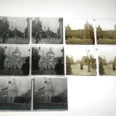 Fotografía antigua: LOTE 5 ANTIGUAS PLACAS ESTEREOSCOPICAS CRISTAL EN POSITIVO DE MADRID. Lote 229331635