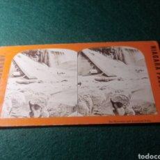 Fotografía antigua: CATARATAS NIAGARA. ICE MOUNTAIN AND AMÉRICAN FALLS. Lote 229396105
