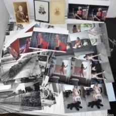Fotografía antigua: 47 FOTOS...LOTE 11 FOTOS ESTEREOSCOPICAS DESNUDOS+8 MARILYN MONROE+ 3 CARTAS VISITA+25 TRENES Y EST. Lote 265340874
