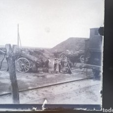 Fotografía antigua: DOS PLACAS ESTEREOSCOPICAS EN NEGATIVO TREN FERROCARRIL ZONA DE SALAMANCA. 1920/30. Lote 230308020