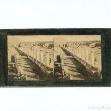 Fotografía antigua: RUINAS DE POMPEYA - 1860'S. ALBÚMINA ESTEREO 8,5 X 17,5 CM.. Lote 233148540