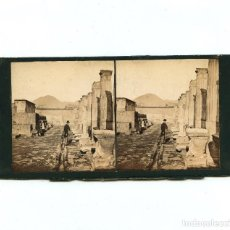 Fotografía antigua: RUINAS DE POMPEYA - 1860'S. ALBÚMINA ESTEREO 8,5 X 17,5 CM.. Lote 233164865