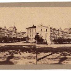 Fotografía antigua: MADRID.- CASA DE MEDINACELI DESDE EL PRADO. FOTO J. LAURENT.. Lote 235483395