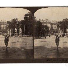 Fotografía antigua: MADRID.- PLAZA DE ORIENTE. H.C.WHITE CO.. Lote 235495655