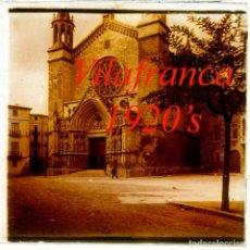 Fotografía antigua: VILAFRANCA DEL PENEDES - 1920'S - POSITIU DE VIDRE. Lote 235810065