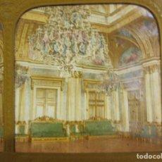 Fotografía antigua: CARTÓN ESTEREO. SALON DE BAILE. HOTEL DE VILLE, AYUNTAMIENTO PARIS. 8,5 X 17 CM. Lote 235985025