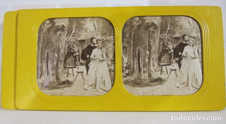 Fotografía antigua: ESTUCHE. FAUSTO, FAUST. ADOLPHE BLOCK. LES THEATRES PARIS. DIORAMA VINTAGE ALBUMINA TISSUE. C. 1865 - Foto 3 - 236131310