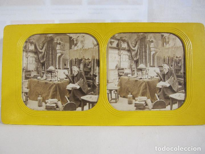 Fotografía antigua: ESTUCHE. FAUSTO, FAUST. ADOLPHE BLOCK. LES THEATRES PARIS. DIORAMA VINTAGE ALBUMINA TISSUE. C. 1865 - Foto 4 - 236131310