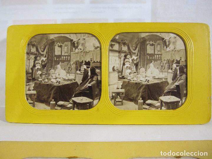 Fotografía antigua: ESTUCHE. FAUSTO, FAUST. ADOLPHE BLOCK. LES THEATRES PARIS. DIORAMA VINTAGE ALBUMINA TISSUE. C. 1865 - Foto 5 - 236131310
