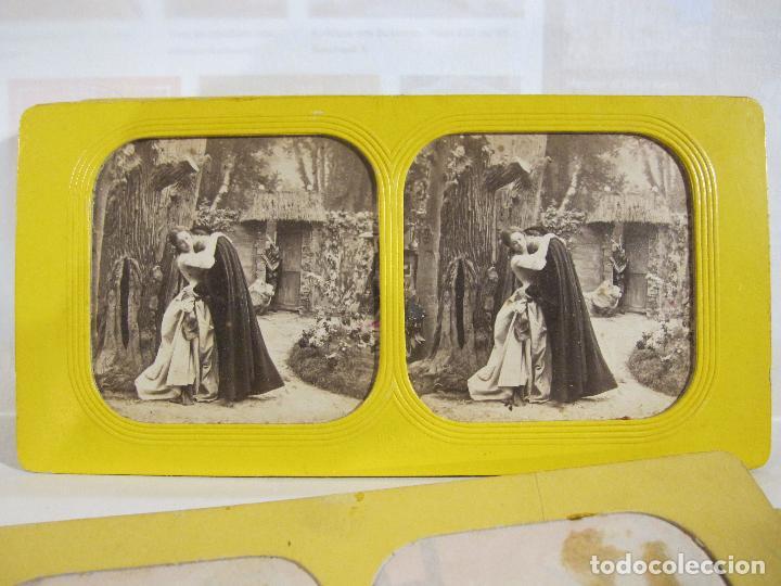 Fotografía antigua: ESTUCHE. FAUSTO, FAUST. ADOLPHE BLOCK. LES THEATRES PARIS. DIORAMA VINTAGE ALBUMINA TISSUE. C. 1865 - Foto 7 - 236131310
