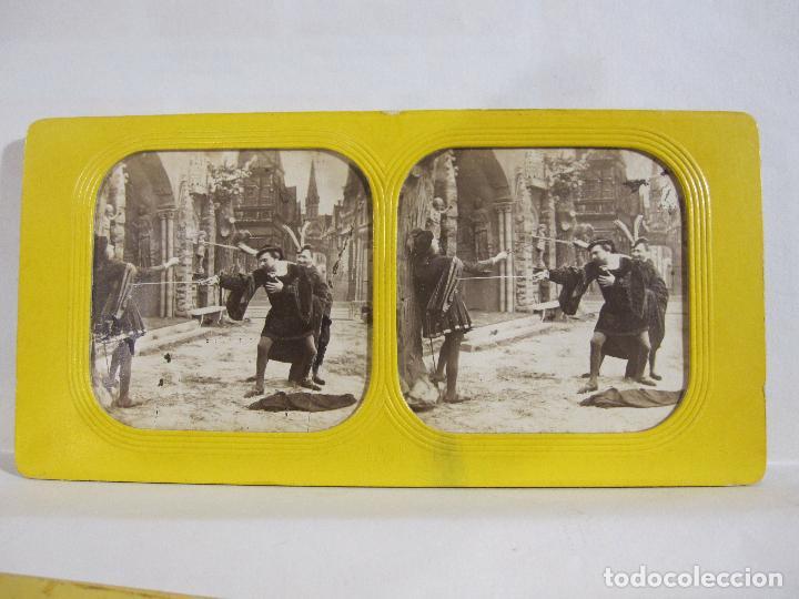 Fotografía antigua: ESTUCHE. FAUSTO, FAUST. ADOLPHE BLOCK. LES THEATRES PARIS. DIORAMA VINTAGE ALBUMINA TISSUE. C. 1865 - Foto 11 - 236131310