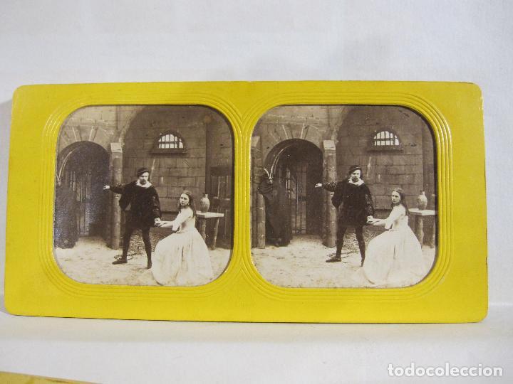 Fotografía antigua: ESTUCHE. FAUSTO, FAUST. ADOLPHE BLOCK. LES THEATRES PARIS. DIORAMA VINTAGE ALBUMINA TISSUE. C. 1865 - Foto 13 - 236131310