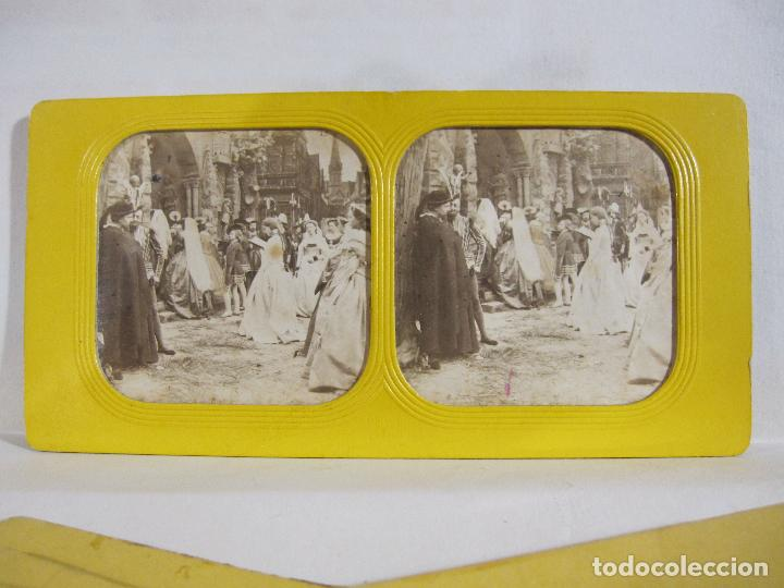Fotografía antigua: ESTUCHE. FAUSTO, FAUST. ADOLPHE BLOCK. LES THEATRES PARIS. DIORAMA VINTAGE ALBUMINA TISSUE. C. 1865 - Foto 14 - 236131310