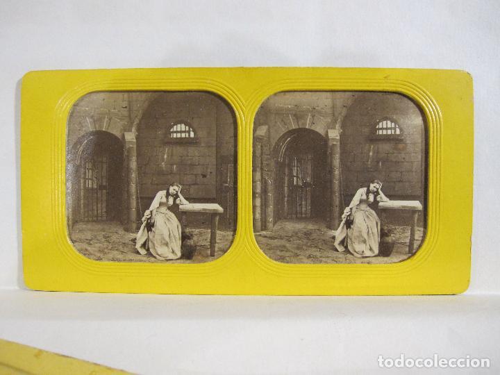 Fotografía antigua: ESTUCHE. FAUSTO, FAUST. ADOLPHE BLOCK. LES THEATRES PARIS. DIORAMA VINTAGE ALBUMINA TISSUE. C. 1865 - Foto 17 - 236131310