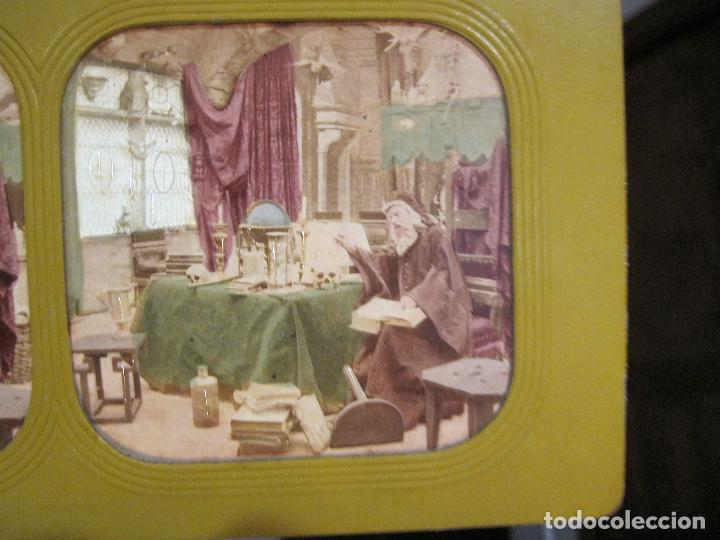 Fotografía antigua: ESTUCHE. FAUSTO, FAUST. ADOLPHE BLOCK. LES THEATRES PARIS. DIORAMA VINTAGE ALBUMINA TISSUE. C. 1865 - Foto 24 - 236131310
