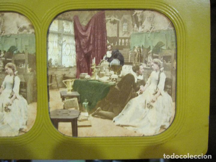 Fotografía antigua: ESTUCHE. FAUSTO, FAUST. ADOLPHE BLOCK. LES THEATRES PARIS. DIORAMA VINTAGE ALBUMINA TISSUE. C. 1865 - Foto 26 - 236131310