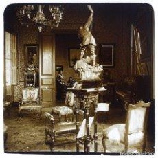 Fotografía antigua: FAMILIA SAGALÉS - 1920'S. CRISTAL POSITIVO ESTEREO 10X4 CM.. Lote 238888275