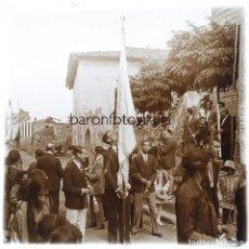 Fotografía antigua: LA ROCA DEL VALLÈS - SETIEMBRE 1926. CRISTAL POSITIVO ESTEREO 10X4 CM.. Lote 238889025